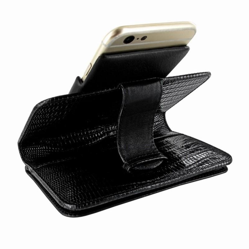 Piel Frama Wallet iPhone 6(S) Lizard zwart