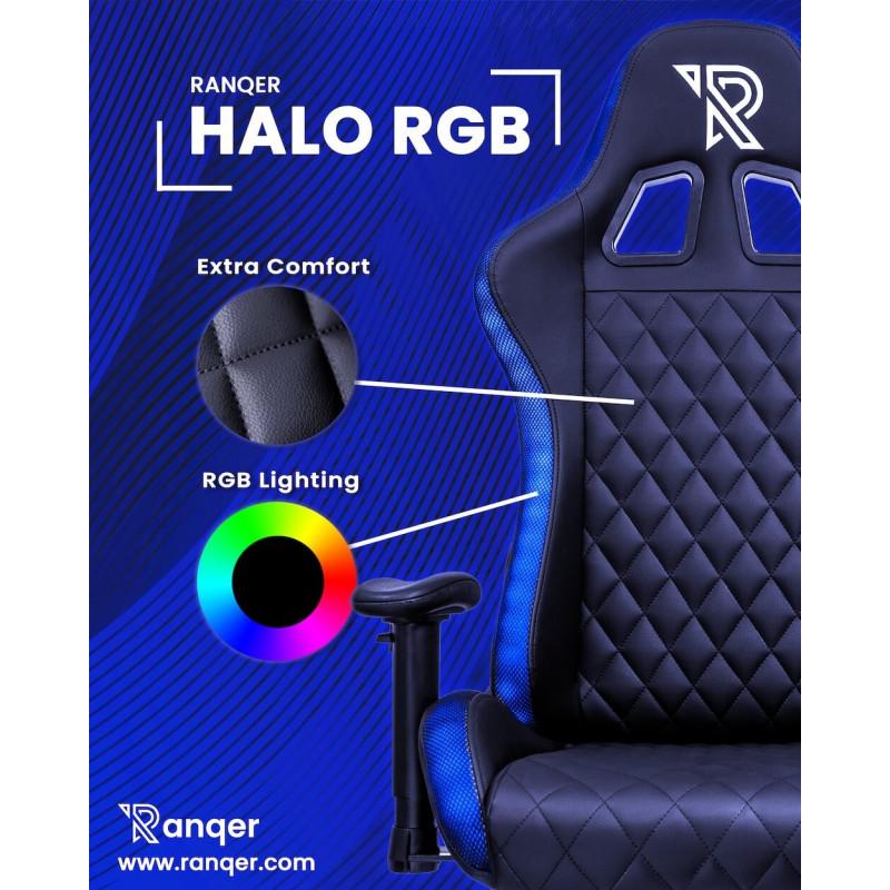 Ranqer Halo gamestoel RGB / LED zwart