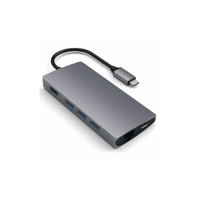 Satechi USB-C Multi-Port Adapter 4K Ethernet V2 space gray