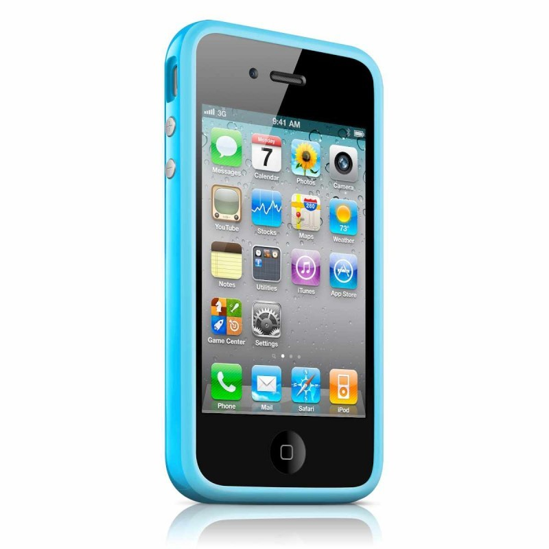 iPhone 4(S) Bumper blauw