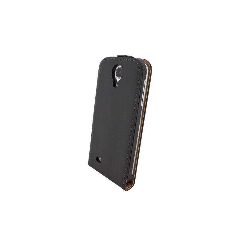 Mobiparts Flip Case leer Galaxy S4 zwart