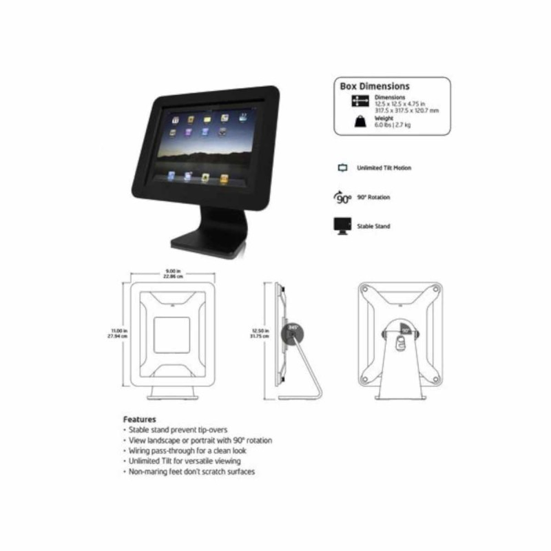 MacLocks iPad Enclosure Kiosk / iPad standaard aluminium
