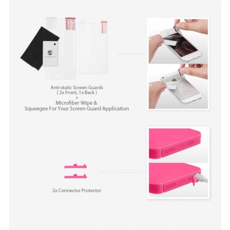 SwitchEasy Kirigami sweet love iPhone 5(S)/SE roze