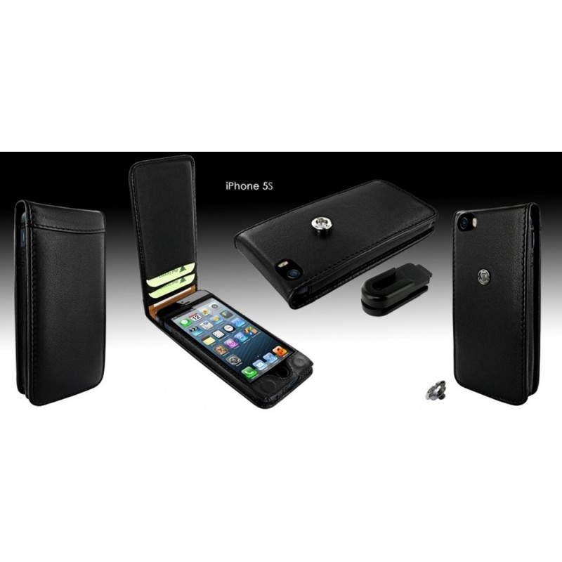 Piel Frama Magnetic iPhone 5(S)/SE zwart