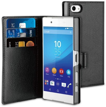 Muvit Wallet Case Xperia Z5 Compact Black