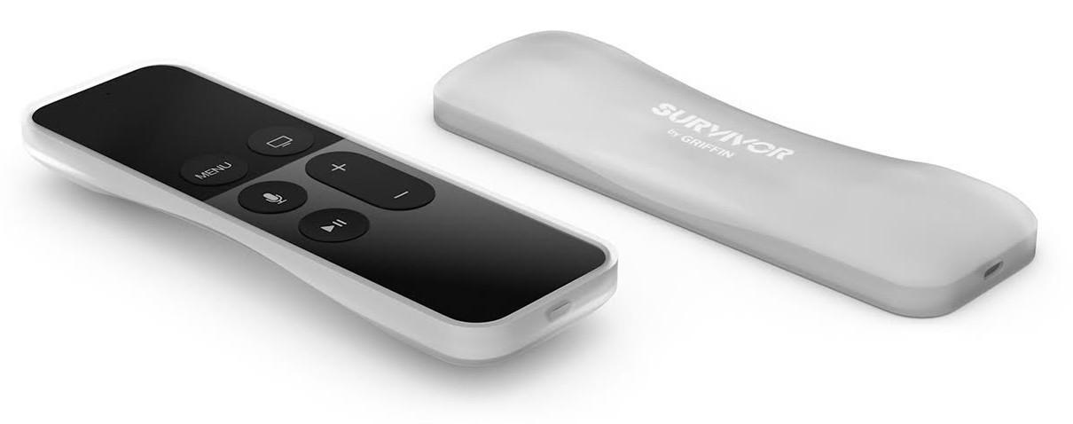 Griffin Survivor Play Siri Remote Clear