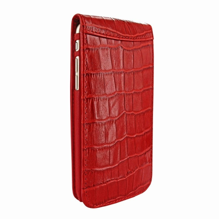 Piel Frama Magnetic iPhone 6(S) Crocodile rood