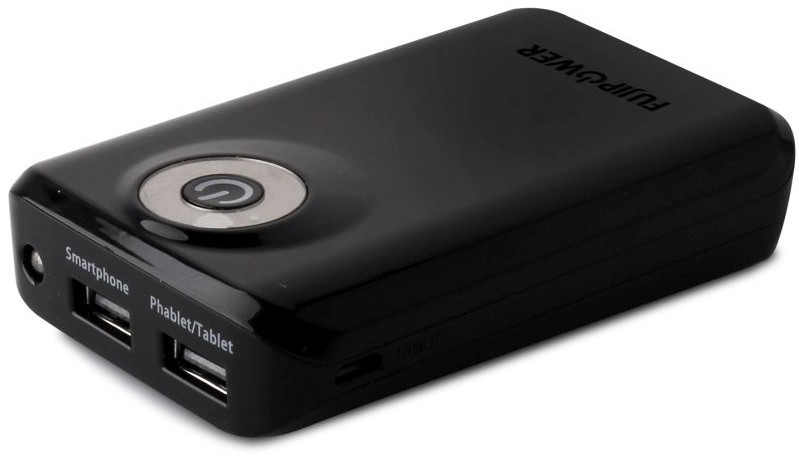 Fujipower Universal Powerbank 6600 mAh 1A Black