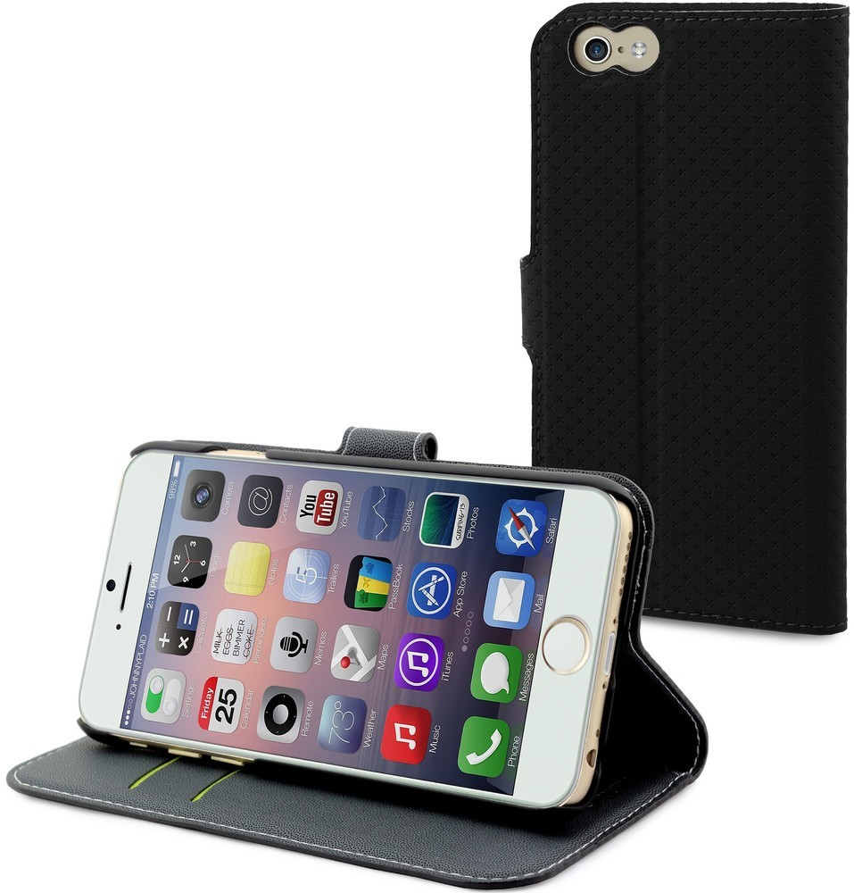 Muvit Wallet Case iPhone 6 Plus / 6S Plus Black