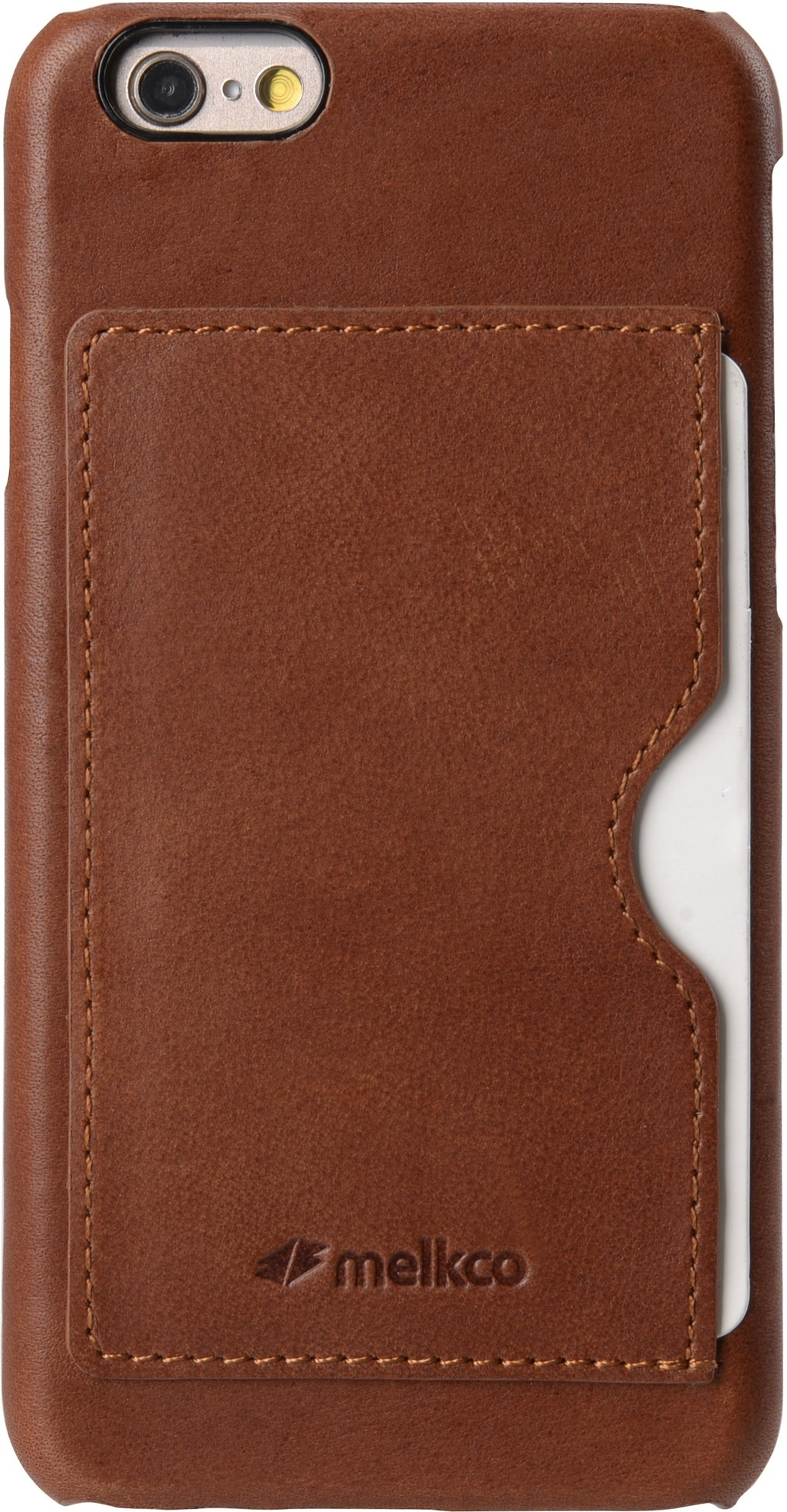 Melkco Back Cover iPhone 6 Plus / 6S Plus Case Card Slot Orange Brown