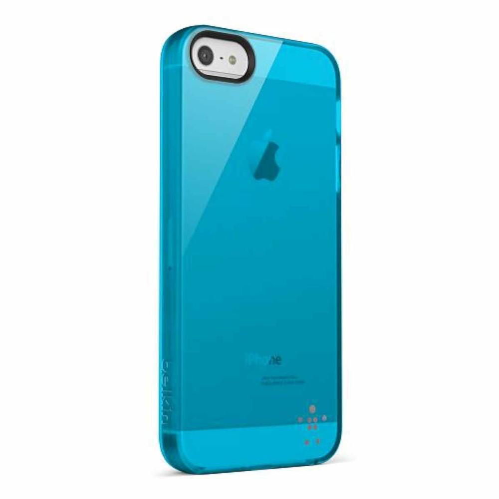 Belkin Grip Sheer transparant iPhone 5(S)/SE blauw
