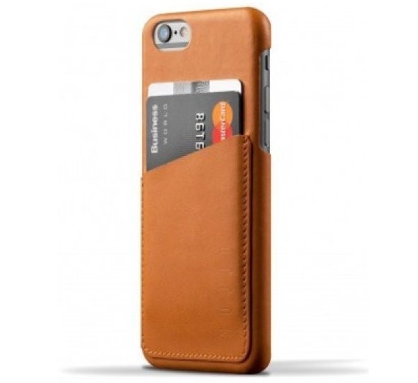 Mujjo wallet leren case iPhone 6(S) bruin