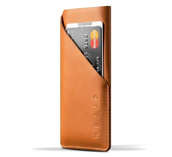 Mujjo wallet leren sleeve iPhone 7 / 8 / SE 2020 bruin