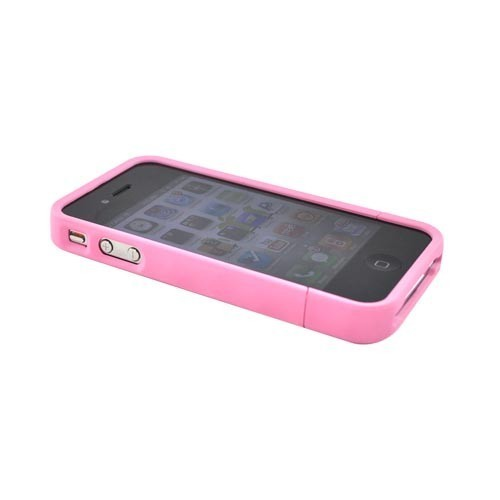 Bubble Slider Soft Touch iPhone 4 Hardcase Roze