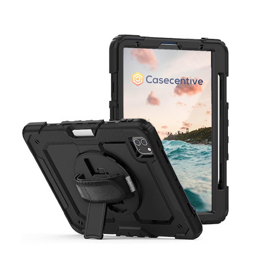 """Casecentive Handstrap Pro Hardcase met handvat iPad Pro 11"""" 2021 / 2020 / 2018 zwart"""