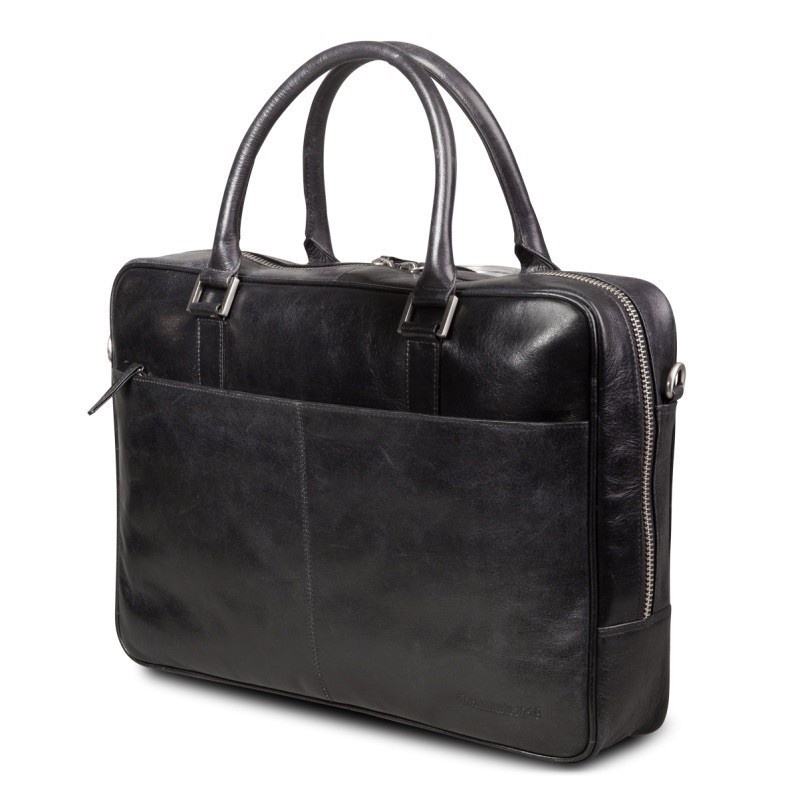 "dbramante1928 leren business bag 14"" Rosenborg zwart"