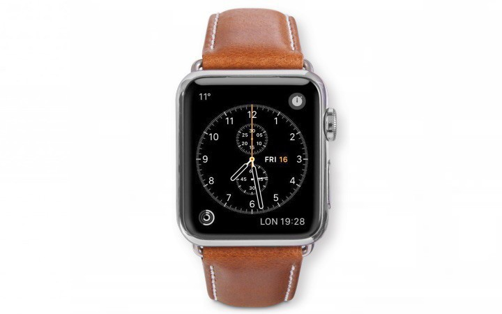 dbramante1928 Copenhagen Apple Watch bandje 38mm grijs/bruin