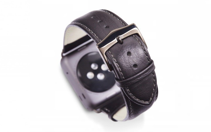 dbramante1928 Copenhagen Apple Watch bandje 42mm grijs/zwart