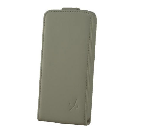 Dolce Vita Flip Case leer iPhone 5(S)/SE wit