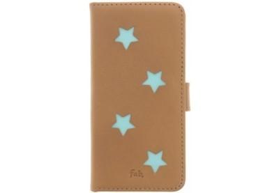 Fab Aqua Reversed star book case iPhone 6(S) beige