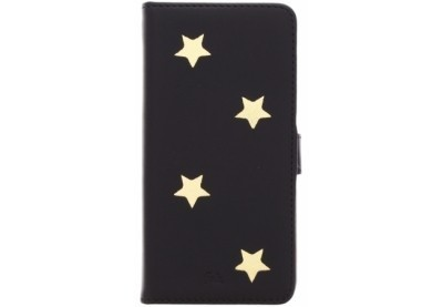 Fab Gold Reversed star book case iPhone 6(S) Plus zwart
