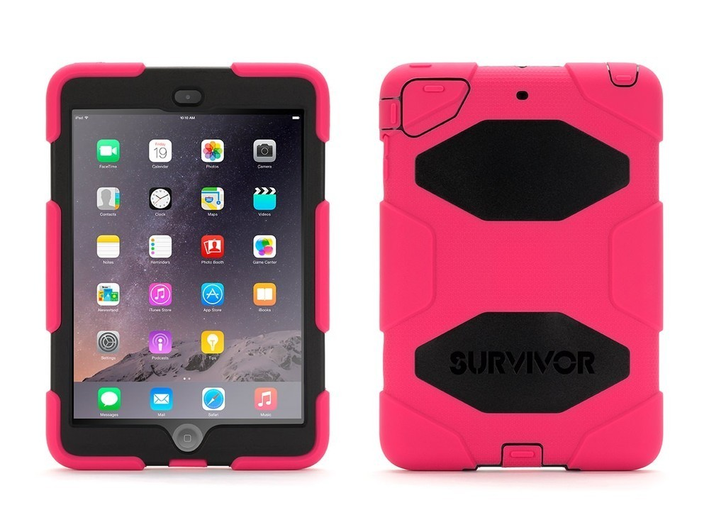 Griffin Survivor hardcase iPad Mini 1/2/3 roze/zwart