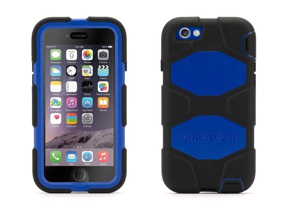 Griffin Survivor hardcase iPhone 7 blauw/zwart
