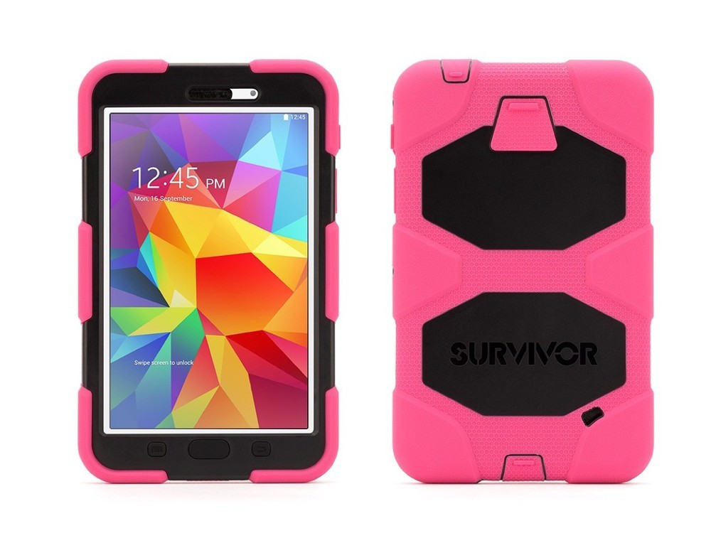 Griffin Survivor All-Terrain hardcase Galaxy Tab 4 7.0 roze/zwart