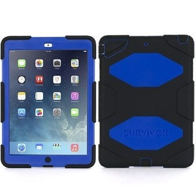 Griffin Survivor All-Terrain hardcase iPad Air 1 blauw-zwart