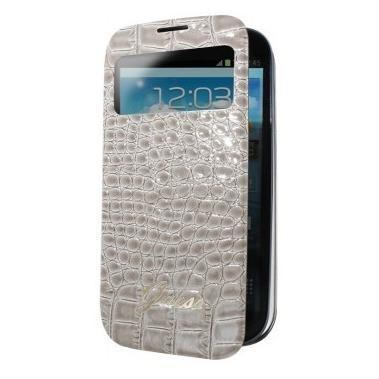 Guess Window Folio Cover Croco Galaxy S4 Mini beige