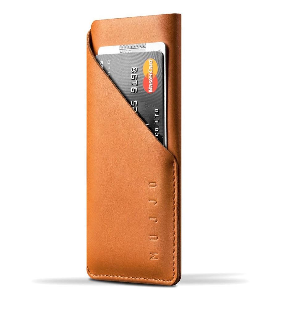 Mujjo wallet leren sleeve iPhone 6(S) bruin