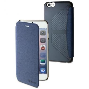 Muvit Easy Folio case Denim iPhone 6(S) blauw