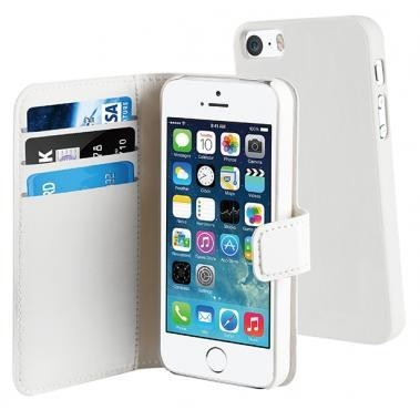 Muvit Magnetic Wallet Case Stand iPhone 5(S)/SE wit