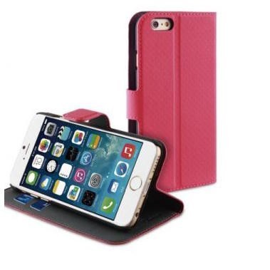 Muvit Wallet Case iPhone 6(S) roze