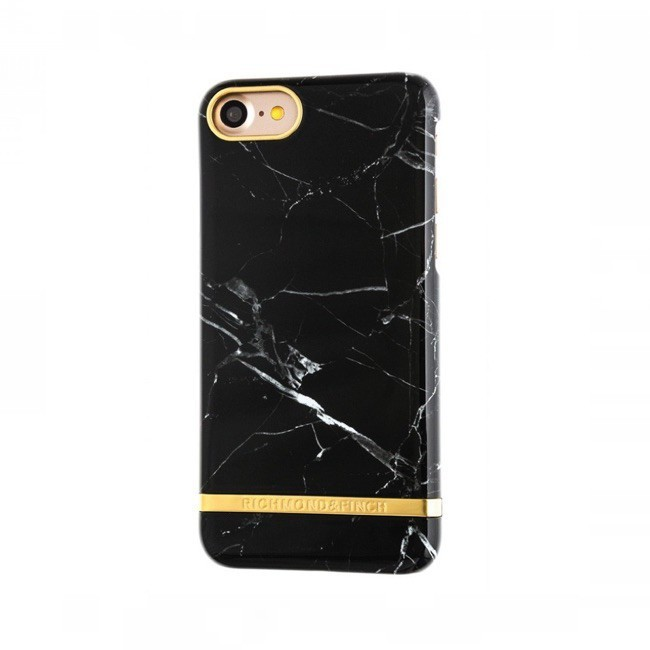Richmond and Finch Marble Glossy iPhone 7 zwart