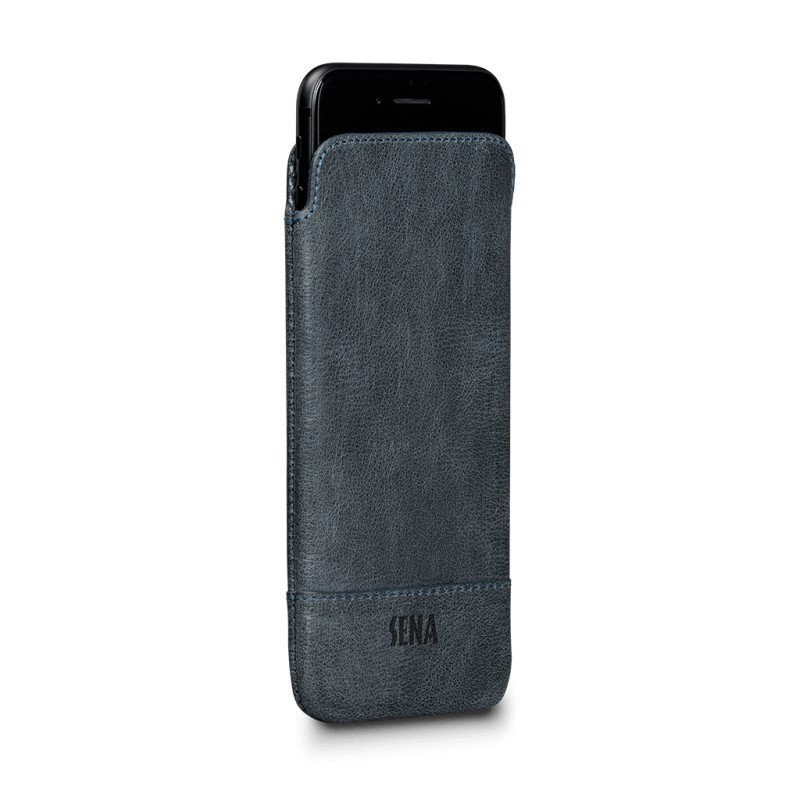 Sena UltraSlim Heritage denim iPhone 7 / 8 / SE 2020 blauw