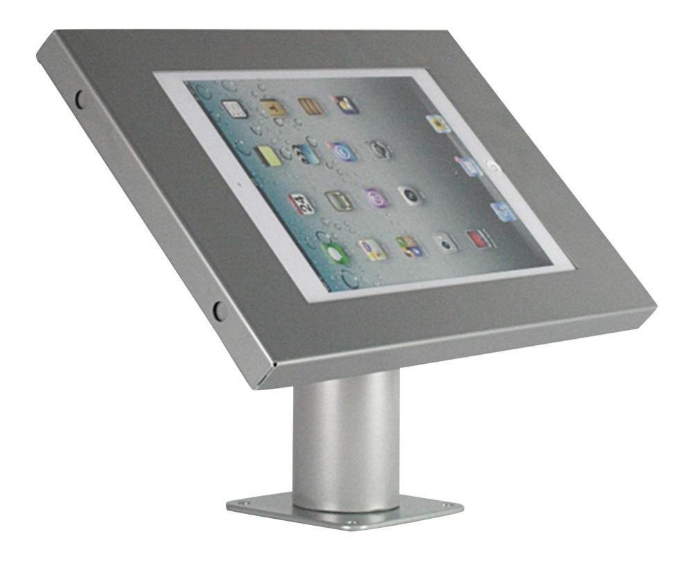 Tablet muur- en tafelstandaard Securo iPad en Galaxy Tab grijs