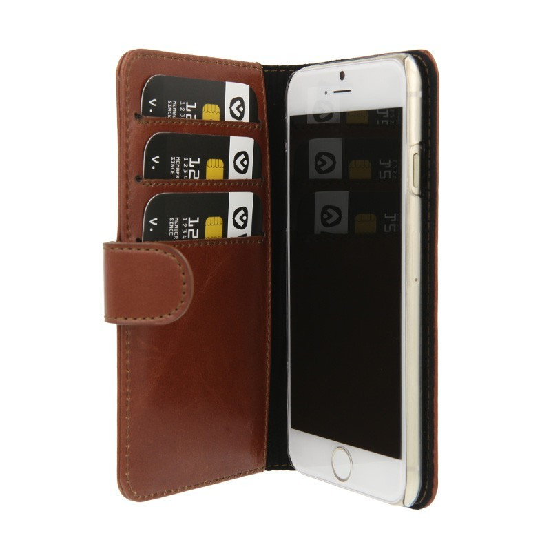 Valenta Booklet wallet case classic iPhone 6(S) bruin
