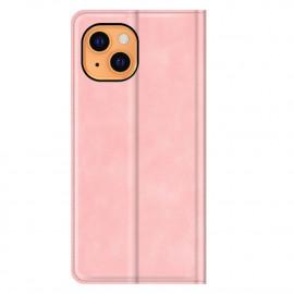 Casecentive Magnetische Leren Wallet case iPhone 13 roze