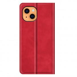 Casecentive Magnetische Leren Wallet case iPhone 13 rood