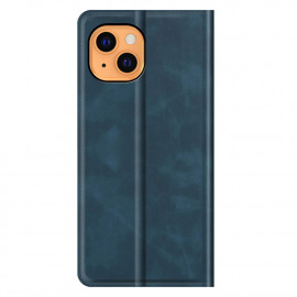 Casecentive Magnetische Leren Wallet case iPhone 13 blauw