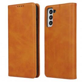 Casecentive Leren Wallet case Luxe Samsung Galaxy S21 Plus tan