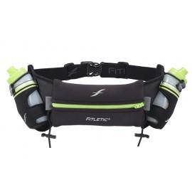 Fitletic Hydration Belt 2 x 250ml drinkgordel zwart/groen
