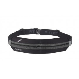 Fitletic Double Pouch Running Belt Black / Grey