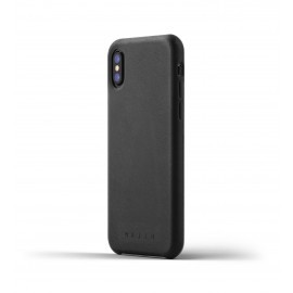 Mujjo Leather Case iPhone X zwart