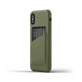 Mujjo Leren Wallet Case iPhone X groen