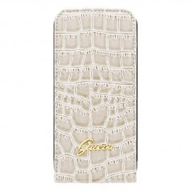 Guess Croco iPhone 6 / 6S Flip Case Beige
