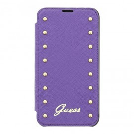Studded Galaxy S5 Folio Case Purple