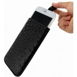 Piel Frama Pull Sleeve iPhone 6(S) / 7 / 8 Ostrich zwart