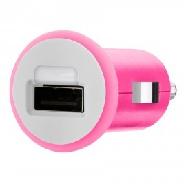 Micro 1A Car Charger USB Pink